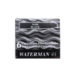 Cartouche Waterman courte noir (x6)