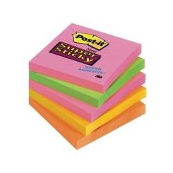 Post-it Super Sticky néon 76x76 (x5)