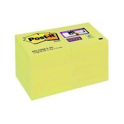 Post-it Super Sticky 51x51mm jaune (x12)