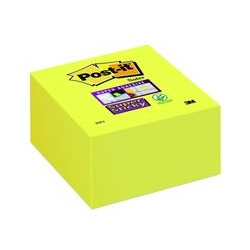 Bloc cube Post-it 350f 76x76mm jaune