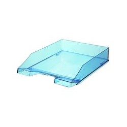 Corbeille courrier bleu transparent OD