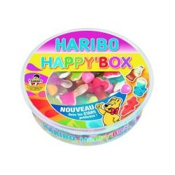 Boite Happy Box bonbon Haribo 600g ass.