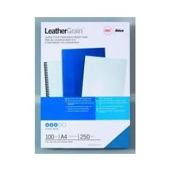 Couverture grain cuir A4 bleu (x100)