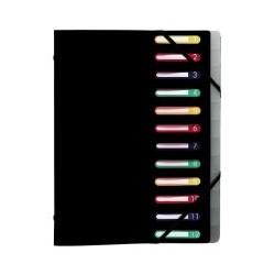 Trieur 3 rabat élastique 12 cases