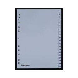 Intercalaire num. OD PPA4 gris (x20)