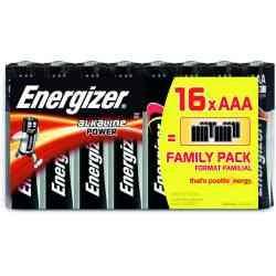 Pack 16 Piles ENERGIZER Alkaline Family AAA 1.5 V
