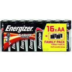 Piles ENERGIZER Alkaline F. AA 1.5V(x16)