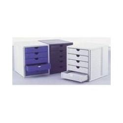 Module 5 tiroir fermé gris/bleu
