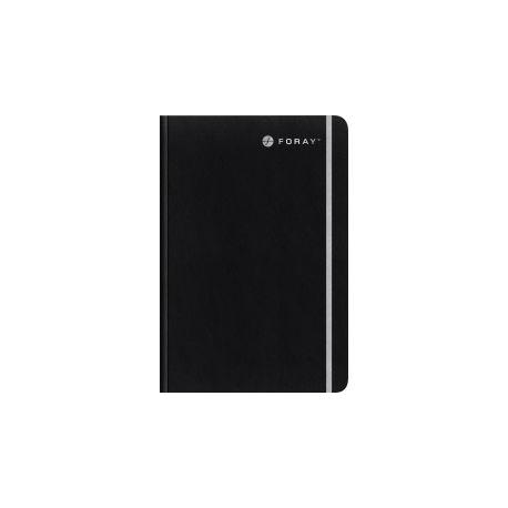 Cahier à couverture souple Foray A5 Executive 200 Papier Noir