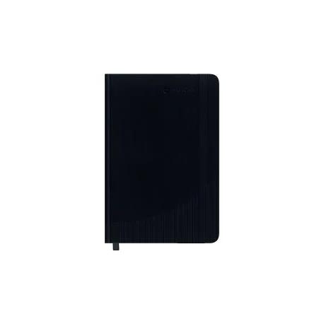 Cahier à couverture rigide Foray A5 Classic 160p Ligné - Noir