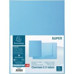 Chemises Exacompta Super 210 bleu (x50)