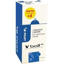 Stylos Roller Pilot Vball 0.7 bleu (x20)