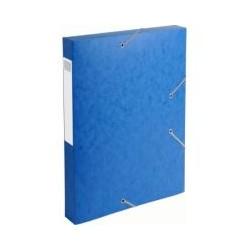 Boite cartobox dos 4cm bleu (x10)