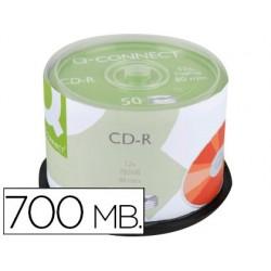 Cd-r q-connect capacité 700mb 80min vitesse 52x fiable...