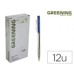 Stylo greening rétractable coloris bleu