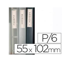 Porte-étiquette q-connect adhésif dos classeur 55x102mm...