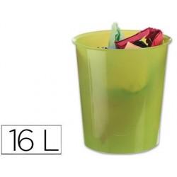 Corbeille à papier q-connect plastique résistant 16l...
