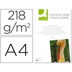 Papier photo q-connect laser semi glacé brillant a4...