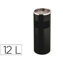 Cendrier q-connect corbeille métallique cylindrique 12l...