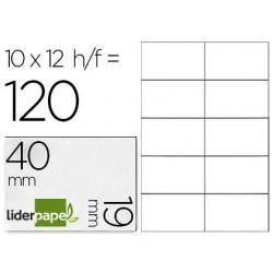 Étiquette adhésive liderpapel 19x40mm coloris blanc...