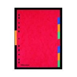 Intercalaire carte lustrée OD A4 (x8)