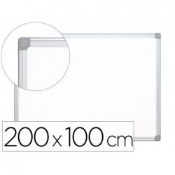 Tableau q-connect laqué magnétique cadre aluminium idéal...