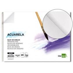 Bloc dessin liderpapel aquarelle spirale papier grain...