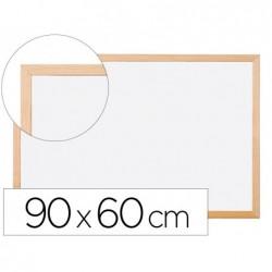 Tableau q-connect mélaminé cadre bois lisse lavable...