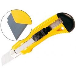 Cutter q-connect plastique large rétractable lame 18mm...