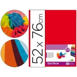Papier de soie liderpapel 52x76cm 18g/m2 unicolore rouge...