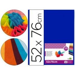 Papier de soie liderpapel 52x76cm 18g/m2 unicolore bleu...