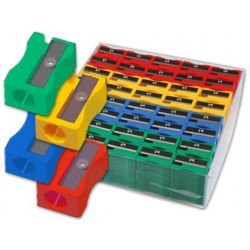Taille-crayon classique plastique 1 usage boîte 120 unités