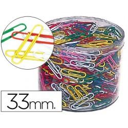 Trombone nickelé 33mm coloris assortis boîte 1000 unités