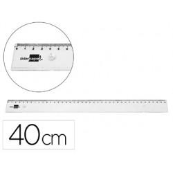 Regle liderpapel plastique incassable transparent 40 cm