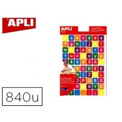 Gommette apli agipa repositionnable carrée alphabet...
