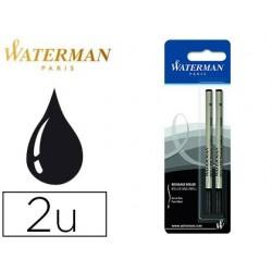 Recharge roller waterman pointe fine encre couleur noir...