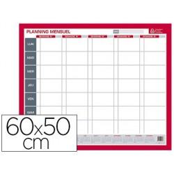 Planning bouchut grandrémy mensuel effaçable à sec 50x60cm