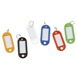 Porte-clés safetool étiquettes attache anneau métal...