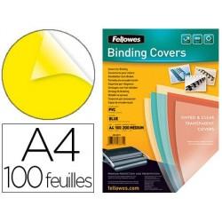 Plat couverture fellowes plastique 20/100e din a4 coloris...