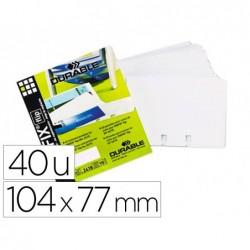 Pochette durable transparente amovible capacité 80 cartes...