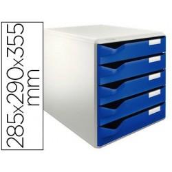 Module classement leitz 5 tiroirs a4+ 285x290x355mm...