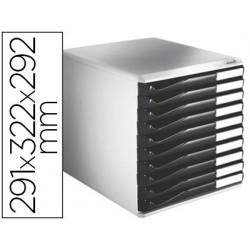 Module classement leitz 10 tiroirs a4+ 285x290x355mm 4...