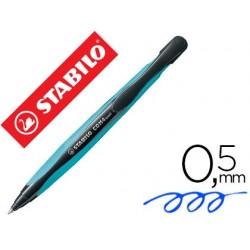 Stylo-bille stabilo com4ball rétractable rechargeable bleu