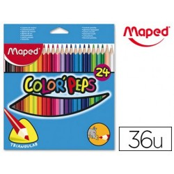 Crayon couleur maped color pep's triangulaire mine...