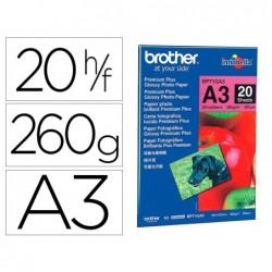 Papier photo brother brillant a3 260g/m2 paquet 20 feuilles