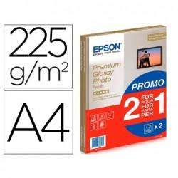 Papier photo epson glossy a4 255g/m2 2 en 1 15 feuilles