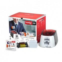 Imprimante cartes badgy 200 inclus 1 ruban de couleur 100...