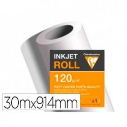 Papier clairefontaine couche mat largeur 30mx914mm 120g...