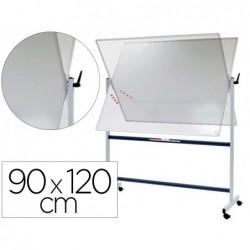 Tableau blanc rotatif vanerum emaille magnetique cadre...