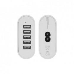 Chargeur secteur 8a 5 ports usb en simultane technologie...